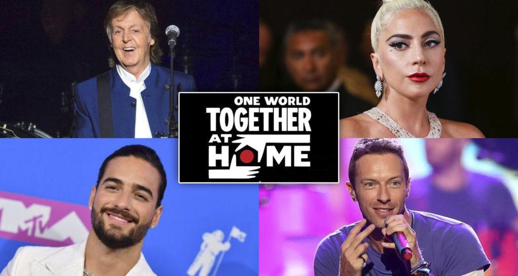 El gran concierto, el cual tiene como hashtag #TogetherAtHome